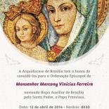 Ordenação Episcopal de Monsenhor Marcony será presidida pelo Cardeal Freire Falcão