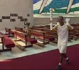 Passagem da Chama Olímpica pela Catedral Metropolitana