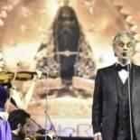 Andrea Bocelli emociona fiéis em apresentação no Santuário de Aparecida