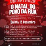 Pastoral promove Celebração Natalina para pessoas em Situação de Rua