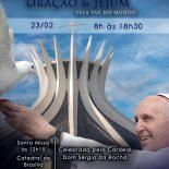 Na Catedral um dia especial de Oração e Jejum pela Paz