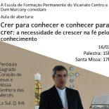 Participe Com Dom Marcony da Escola de Formação Permanente do Vicariato Centro