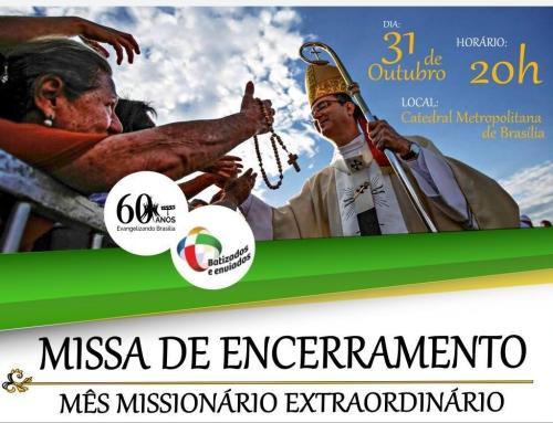 Missa de encerramento do mês missionário extraordinário