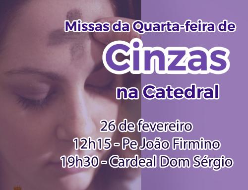 Missa de Cinzas na Catedral
