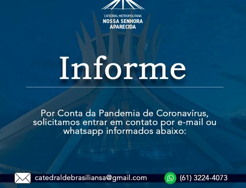 Secretaria da Catedral no Wattsapp – Estamos Online